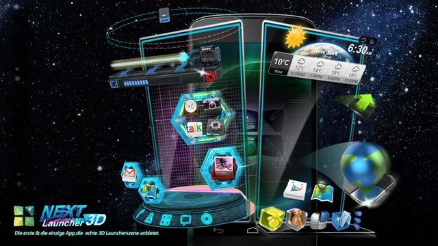 دانلود لانچر سه بعدی Next Launcher 3D Shell v3.13