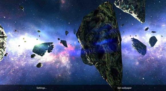دانلود لایو والپیپر سیاره ها - Asteroids Pack v1.2